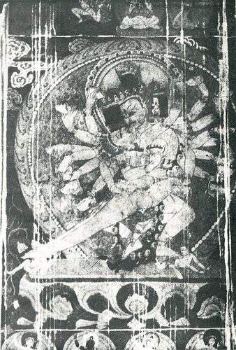 Ratna-Daka, Tsaparang, Tucci, Indo-Tibetica, Plate XXIV, p. 66. The direct power of the deity is strong in this tantric dance