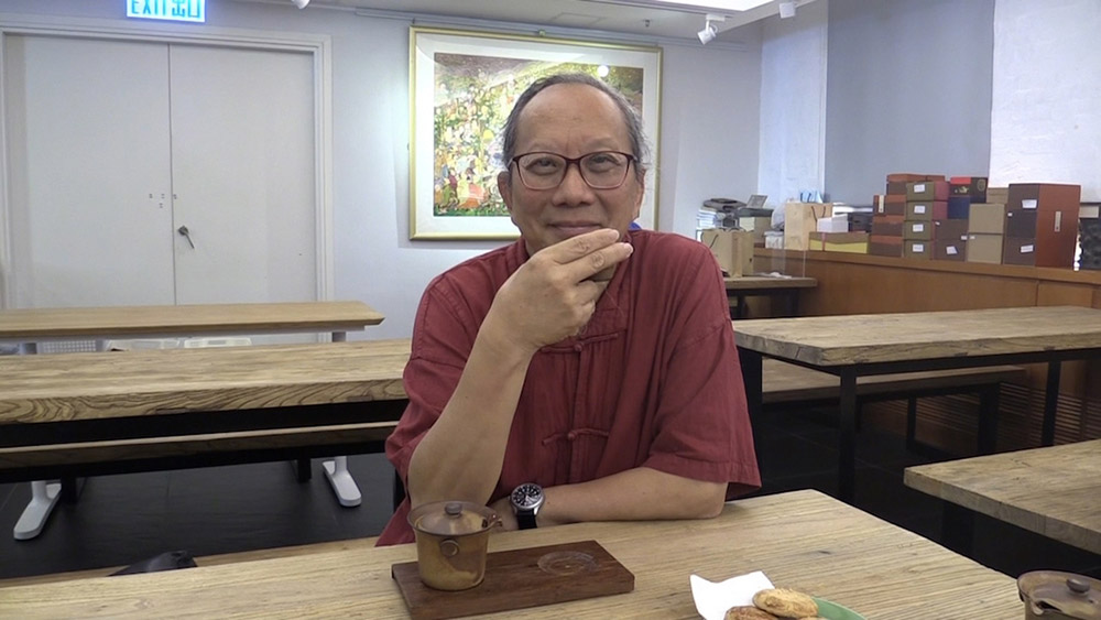 Tea master Wing Chi Ip has been immersed in tea culture for more than 30 years. Image courtesy of the author